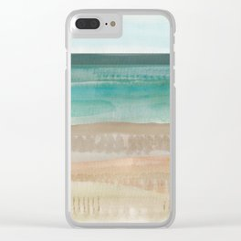 Jade seascape Clear iPhone Case