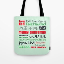 different languages III merry christmas Tote Bag