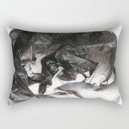 black plastic 08 Rectangular Pillow