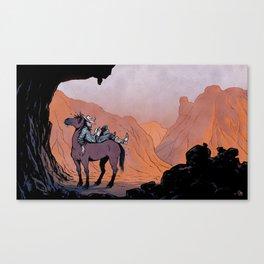 Reading Cowboy Canvas Print