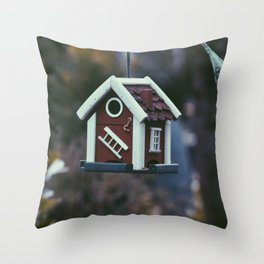 Swedish Bird House Throw Pillow