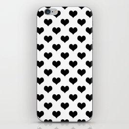 White Black Hearts Minimalist iPhone Skin