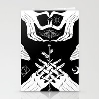 moth Stationery Cards featuring Moth by Nick Iluzada