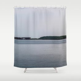 Ore Dock and Presque Isle Shower Curtain