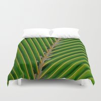 coconut wishes Duvet Covers featuring coconut,leaf by store2u