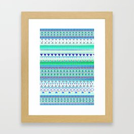 EMERALD CHENOA PATTERN Framed Art Print