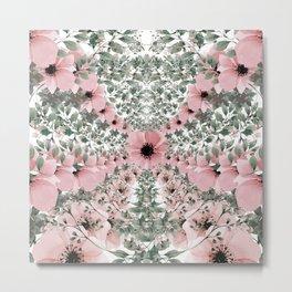 Spring watercolor flowers Metal Print