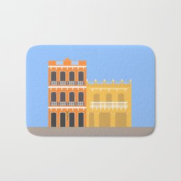 Colored Buildings in Getsemani, Colombia Bath Mat