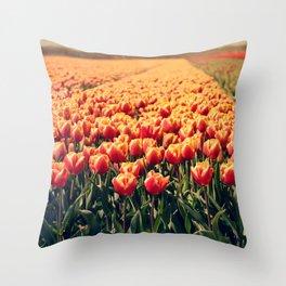 Tulips field #6 Throw Pillow