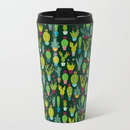 Dark cactus pattern Travel Mug
