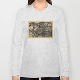 Bird's Eye View of Aspen, Colorado (1893) Long Sleeve T-shirt