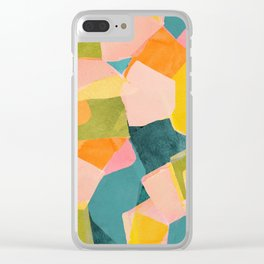 Fun Beautiful Cloodiscope Paper Cut Out Patterns Fun Summer Tropical Style Clear iPhone Case