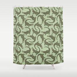 Crocodiles (Camo Palette) Shower Curtain