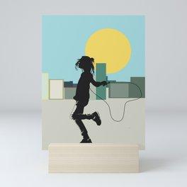 Spring in the city Mini Art Print