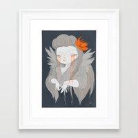hawaiian Framed Art Prints featuring Hawaiian Raven by STUDIOKILLERS