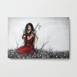 Amongst Wildflowers Metal Print
