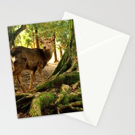 deer in nara koen Stationery Cards
