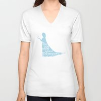 frozen elsa V-neck T-shirts featuring Elsa (Frozen) by Robert Woods