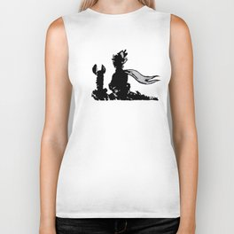 The little prince and the fox - stencil for the LIFE CURRENT WALL series Biker Tank