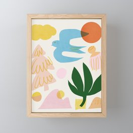 Abstraction_Nature_Beautiful_Day Framed Mini Art Print