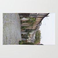 edinburgh Area & Throw Rugs featuring Edinburgh street by RMK Creative