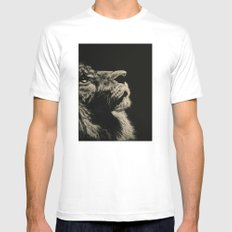 The Once and Future King (Lion) Mens Fitted Tee MEDIUM White