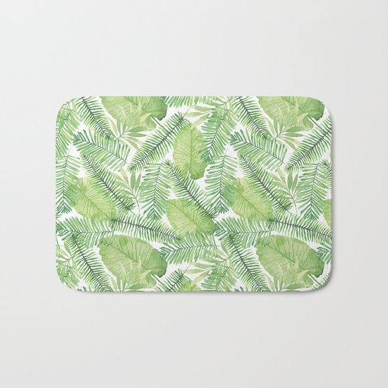 Tropical Branches Pattern 02 Bath Mat