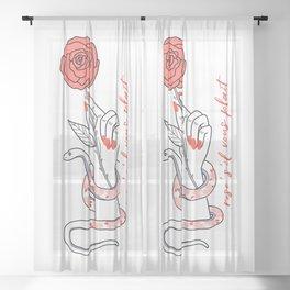 Rosé S'il Vous Plaît Sheer Curtain