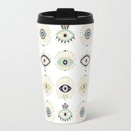 Evil Eye Collection on White Travel Mug