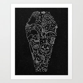 Halloween Horrors Art Print