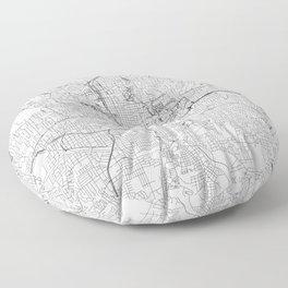 Atlanta White Map Floor Pillow