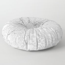 Atlanta White Map Floor Pillow