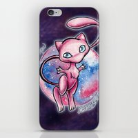 mew iPhone & iPod Skins featuring 151 - Mew by Lyxy