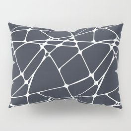 Dark Blue & White Abstract Mosaic Pattern 1 Pairs To Jolie 2020 Color of the Year Classic Navy Blue Pillow Sham