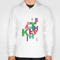 typo Hoodies featuring typo by nuage rouge