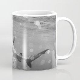 Blue Shark B&W Coffee Mug