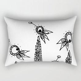 Lavender Wheat Fields Rectangular Pillow