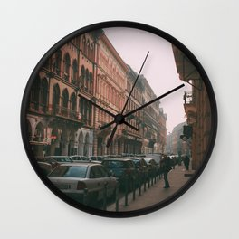 Cars in Budapest Wall Clock