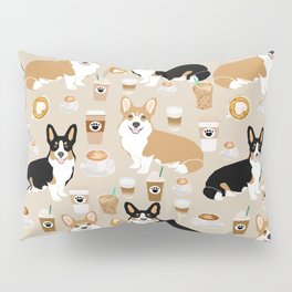 Corgi coffee welsh corgis dog breed pet lovers tan corgi crew Pillow Sham