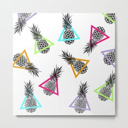 Pineapples & Triangles Metal Print