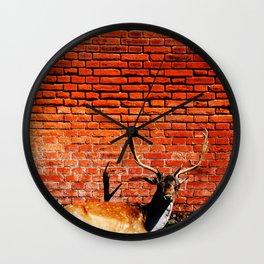 Intruder #society6 Wall Clock
