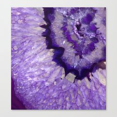 Purple Crystal Canvas Print