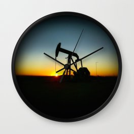 Sunset Behind the Jack  Wall Clock