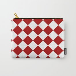 Red and white square pattern Carry-All Pouch