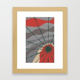 Holiday Sun Star Framed Art Print