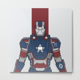 Iron Patriot  Metal Print