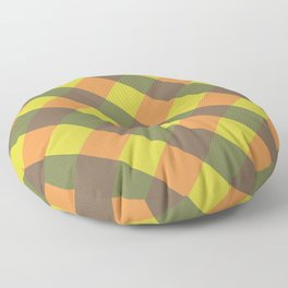 bright fall plaid Floor Pillow