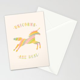 Unicorns Are Real Stationery Cards