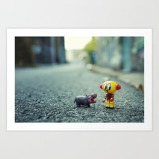 HI!! I told you i don't want a pet!! Art Print