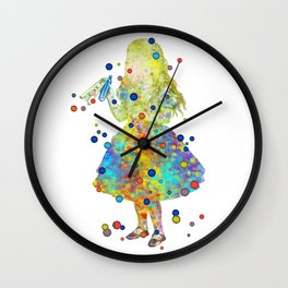 Drink Me - Alice In Wonderland - Watercolor Art Wall Clock